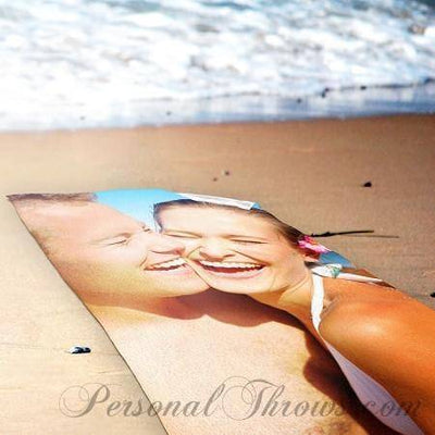 "Photo Towels,Valentine's Day Gifts,Other Products,Mother's Day Gifts - Photo Beach Towel - 30"" X 60"""