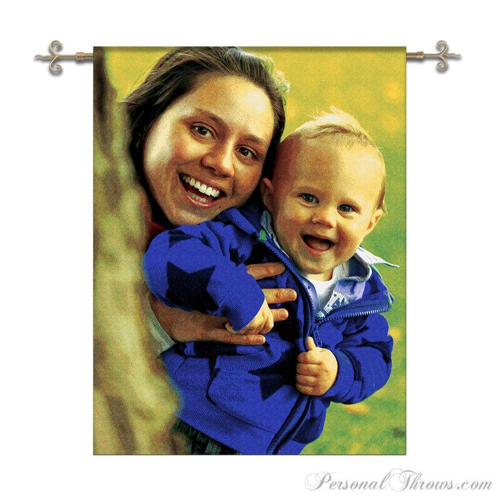"Jacquard Woven Photo Wall Tapestry 40"" x 54"" (Medium)"