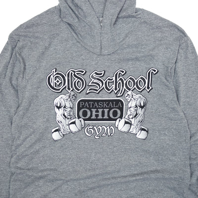 OSG Famous Hooded T-Shirt Grey Old School Gym Hoodie Detail