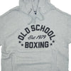 Old School Boxing Short-Sleeve Hoodie Grey Hooded Sweatshirt Detail