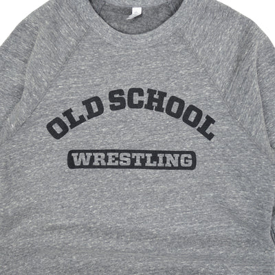 OSG Wrestling Crewneck Sweatshirt Grey Old School Gym Fleece Detail