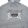 OSG Famous Lightweight Hoodie Grey Old School Gym Sweatshirt Detail