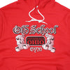 OSG Famous Hoodie Old School Gym Red Hooded Sweatshirt Detail