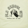OSG Tire Tee Old School Gym White T-Shirt Detail