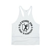 OSG Throwback Stringer Tank Old School Gym White Tank Top