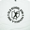 OSG Tee Throwback Old School Gym White T-Shirt Detail