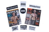 Sticker Pack & Autographed Magazine Old School Gym Cory G Swag