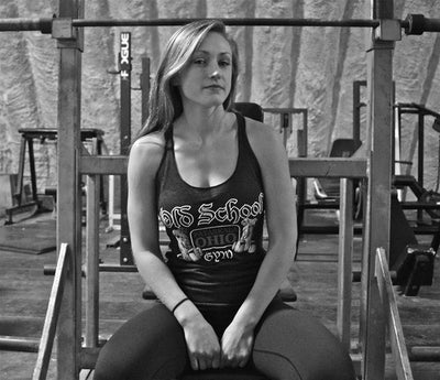 Women's OSG Tank Old School Gym Tank Top On Figure