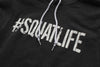 #SQUATLIFE All Black Pullover Hoodie