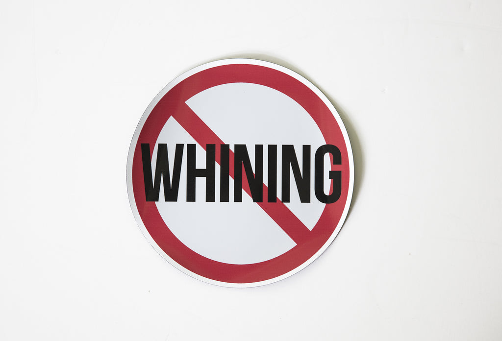 "OLD SCHOOL GYM ""No Whining"" Magnet"