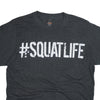 #SQUATLIFE T-Shirt Old Schoolg Gym Tee Detail