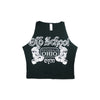 Women's Old School Gym Famous Black Crop Top