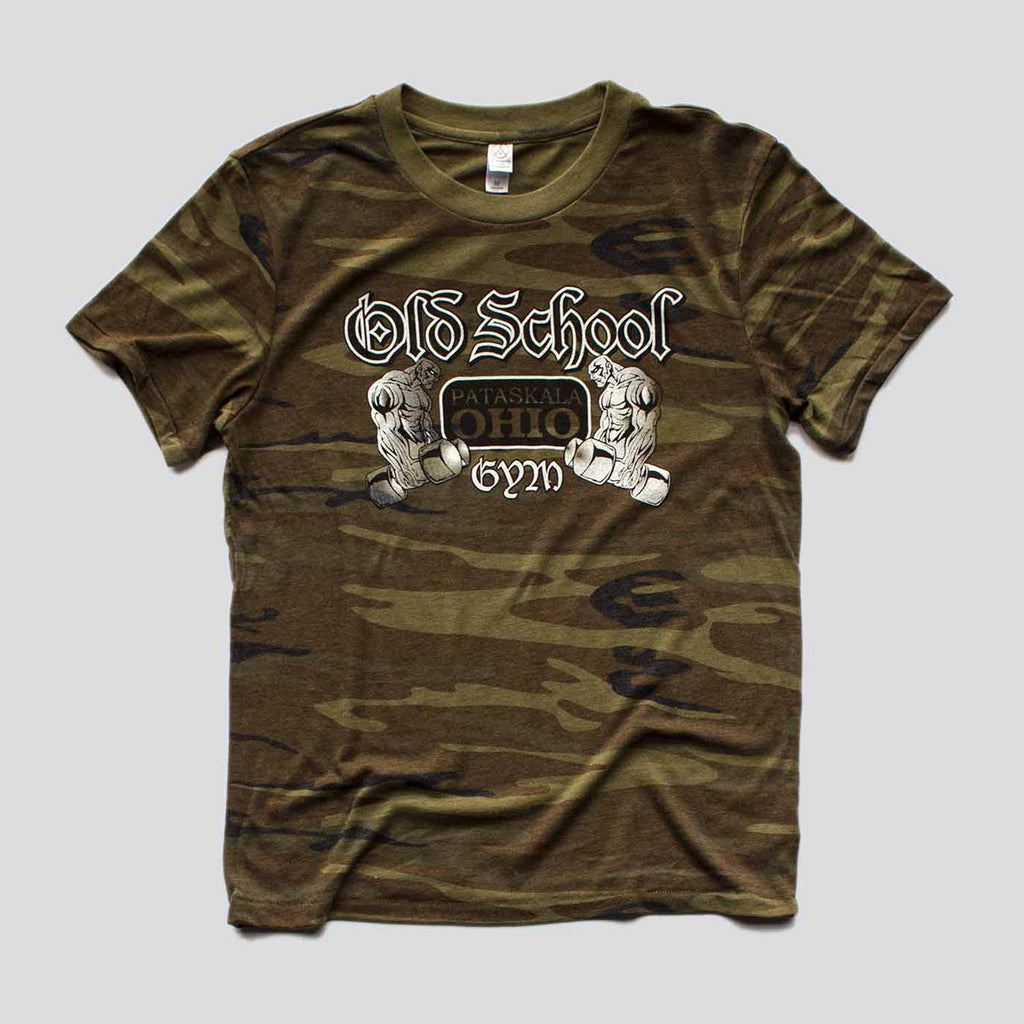 OLD SCHOOL GYM FAMOUS T-SHIRT CAMO FRONT