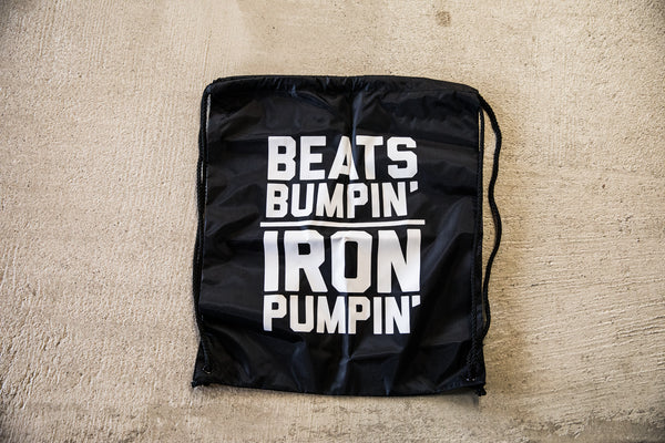 Beats & Barbells Drawstring Gym Bag