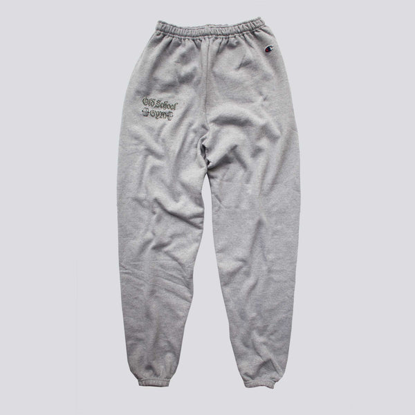 OLD SCHOOL GYM Champion Sweatpants - Light Grey
