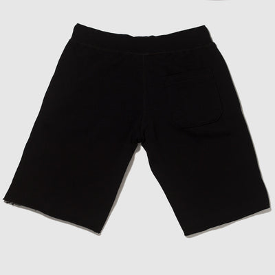 Old School Gym Black Sweatshorts Back