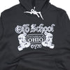OSG Famous Pullover Hoodie Black Old School Gym Sweatshirt Detail