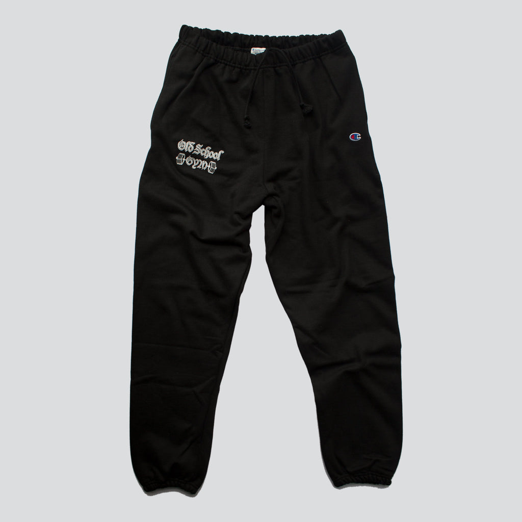 OLD SCHOOL GYM Champion Sweatpants - Black