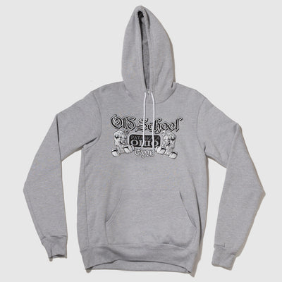 Old School Gym Famous Grey Hooded Sweatshirt Hoodie Front