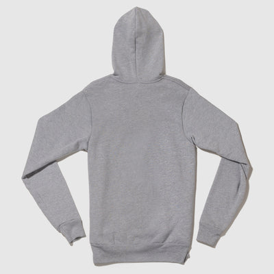 Old School Gym Famous Grey Hooded Sweatshirt Hoodie Back