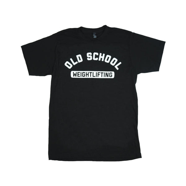 OLD SCHOOL GYM Weightlifting T-Shirt - Black
