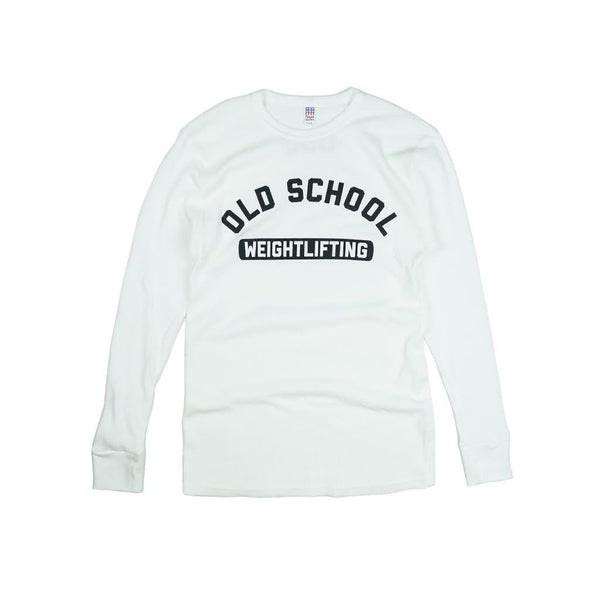 OLD SCHOOL Weightlifting Long Sleeve Thermal - White