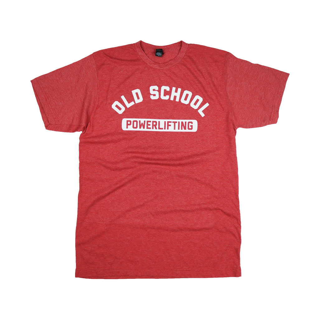 OLD SCHOOL GYM Powerlifting T-Shirt - Red