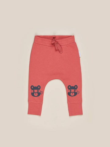 NINJA BEAR DROP CROTCH PANT | HUXBABY