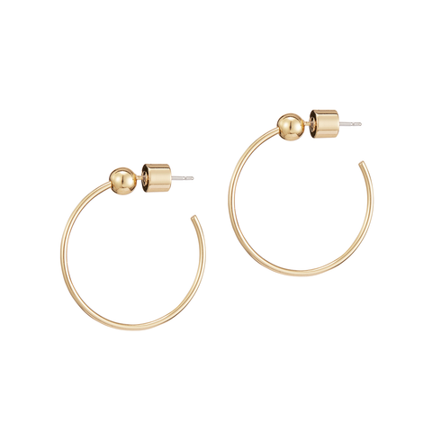 ICON HOOPS XS GOLD