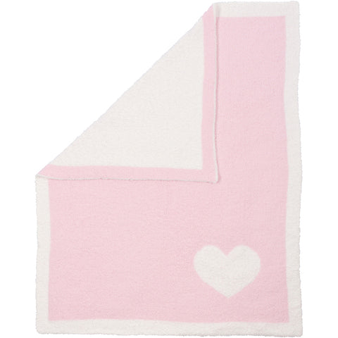 LUXXE REVERSIBLE BABY BLANKET HEART