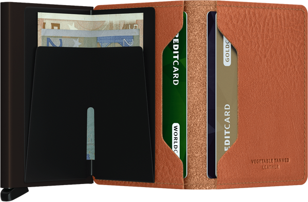 SLIMWALLET IN VEGETABLE TAN