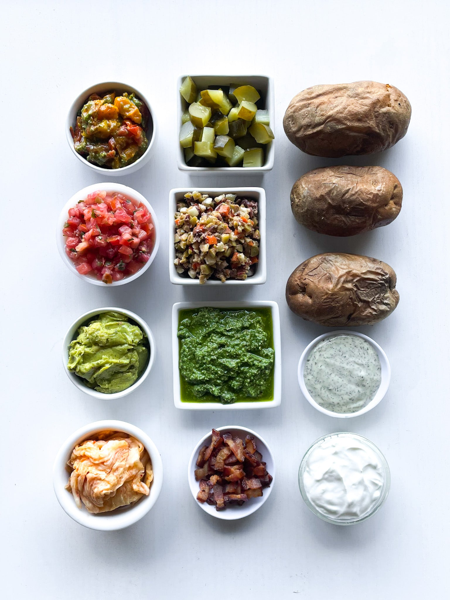 Baked Potato Bar with Healthy Toppings