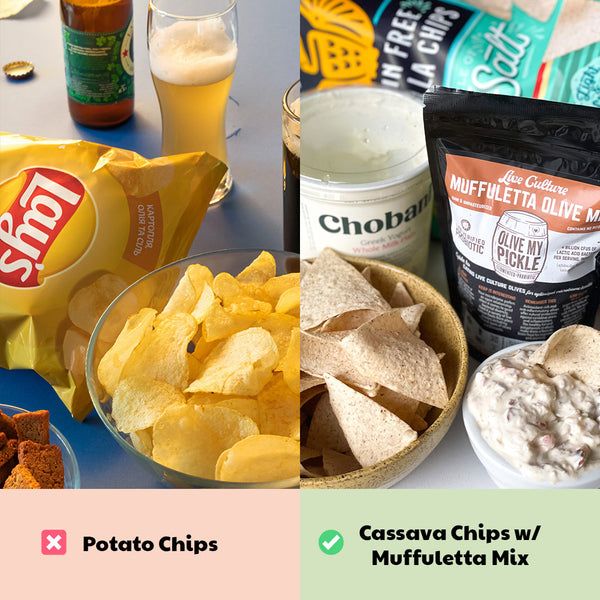 Healthy Game Day Swap: Chips & Dip