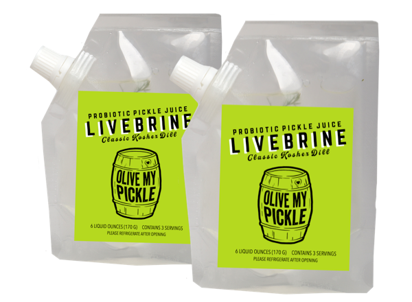 fermented probiotic healthy pickle juice