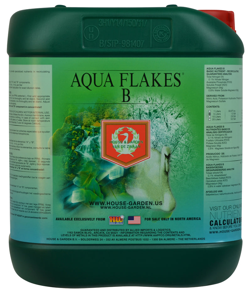 House and Garden Aqua Flakes B -- 5 Liters