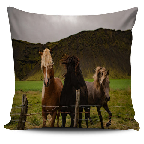 Horse Lovers Pillow Covers, Black, Tan, Brown