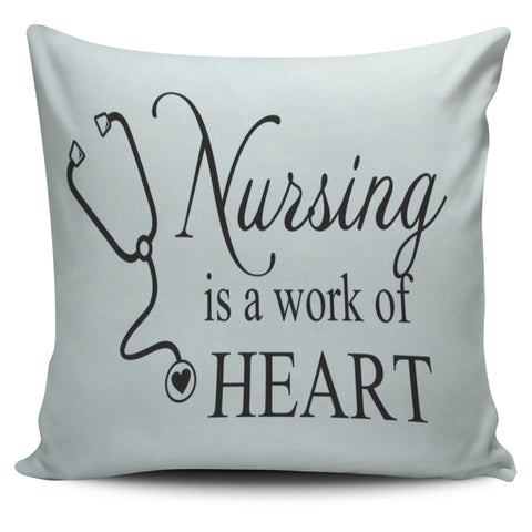 Nursing Work Of Heart Pillow Covers