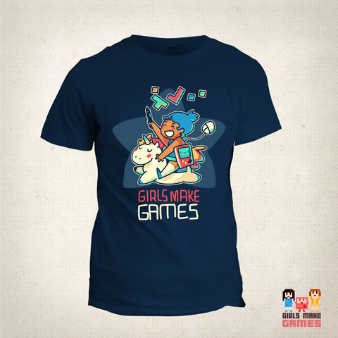 Girls Make Games Scholarship T-Shirt (2016 edition)