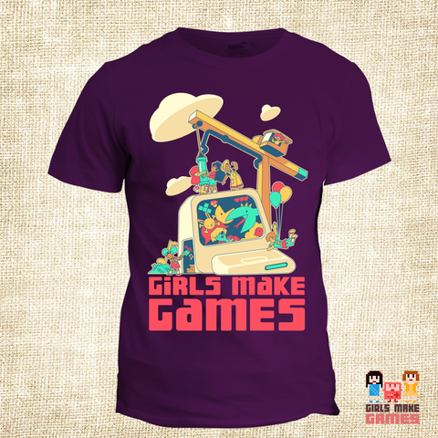 Girls Make Games Scholarship *Crane* Tee (2018 edition)