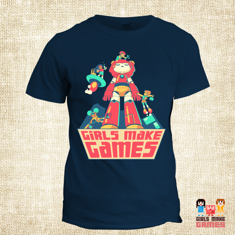 Girls Make Games Scholarship *Robot* Tee (2018 edition)