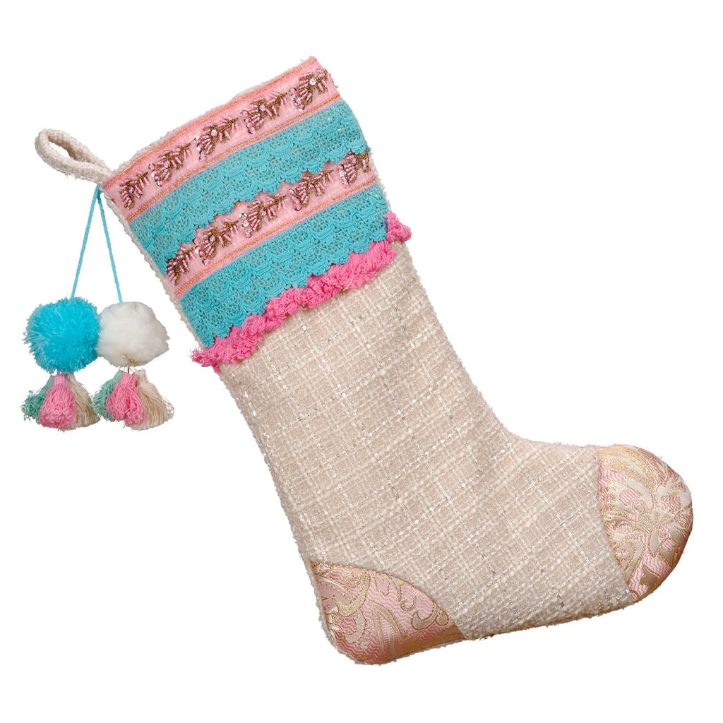 Boho Christmas Stocking - Planning Pretty