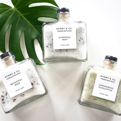 Charcoal Mint Mineral Bath Soak by Aydry & Co.