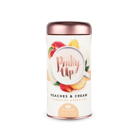 Peaches and Cream Flowering Tea by Pinky Up - Planning Pretty