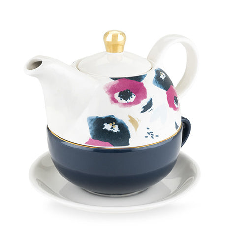 Addison Floral Tea Set for One by Pinky Up