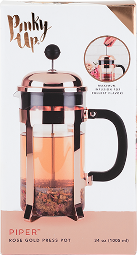 Rose Gold French Press Pot by Pinky Up - Planning Pretty