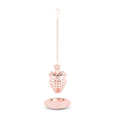 Rose Gold Strawberry Tea Infuser by Pinky Up - Planning Pretty