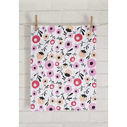 Posy Flower Tea Towel by Pinky Up