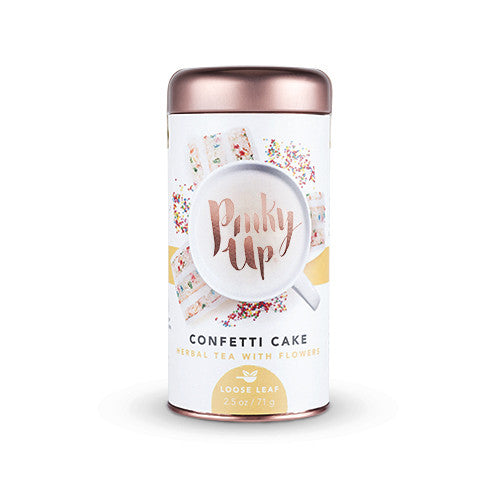 Confetti Cake Loose Leaf Herbal Tea with Flowers by Pinky Up - Planning Pretty
