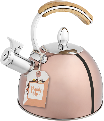 Presley Tea Kettle in Rose Gold by Pinky Up