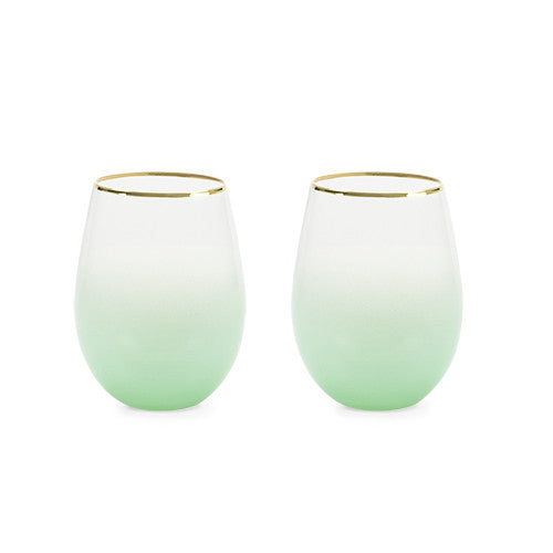Stemless wine and cocktail Saguaro Set of 2 by Blush - Planning Pretty